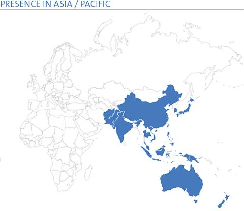 PRESENCE IN ASIA / PACIFIC