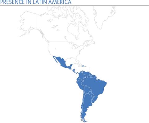 PRESENCE IN LATIN AMERICA