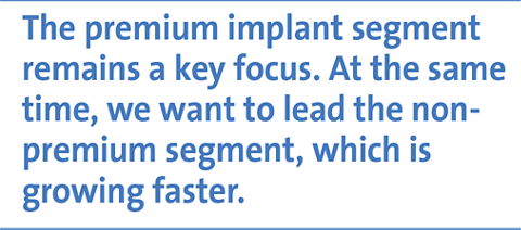 The premium implant segment remains a key focus. At the same time, we want to lead the nonpremium segment, which is growing faster.