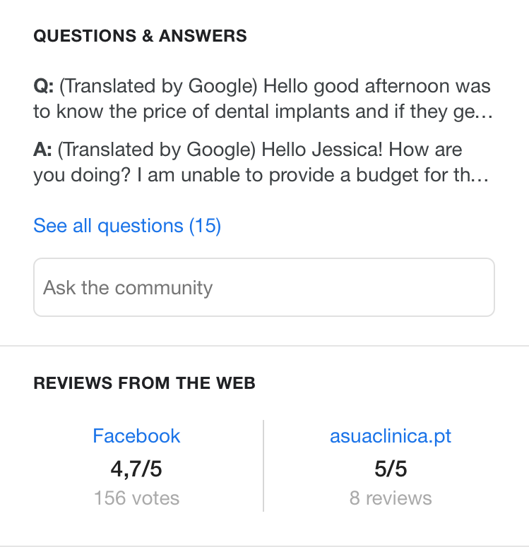 Image result for q&a gmb dentist